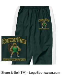 Youth Warm-up Pant - Dark Green Design Zoom